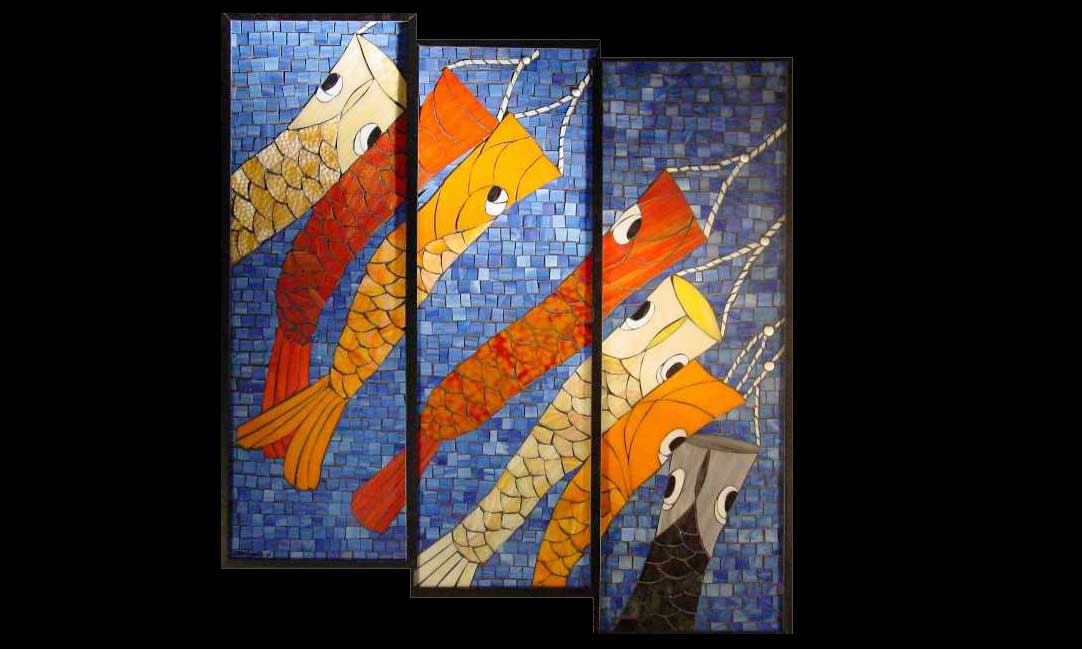 Fish Kites Stained Glass Mosaic